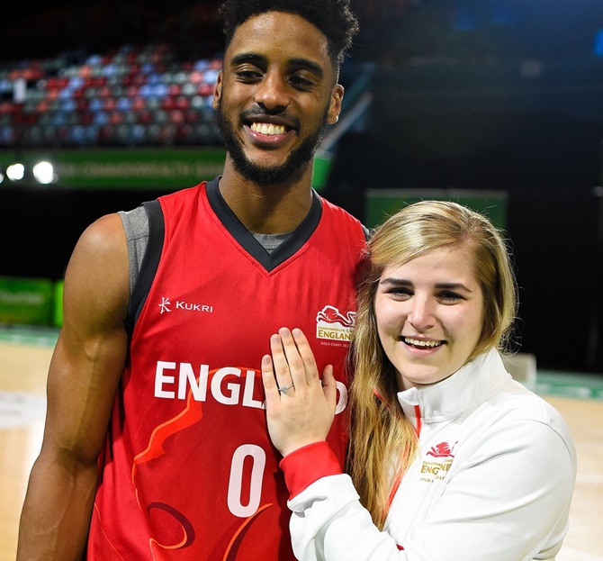England basketballers' engagement a slam dunk