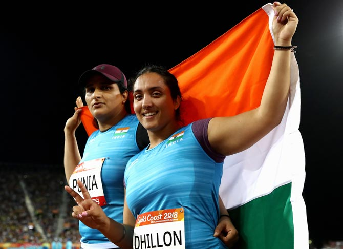 Punia wins silver, Dhillon bronze in discus throw