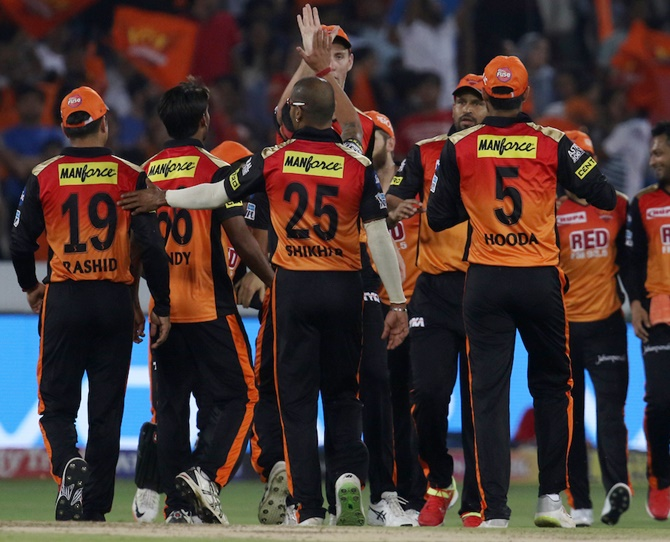 Rediff Cricket - Indian cricket - IPL Preview: Can Sunrisers maintain unbeaten run?
