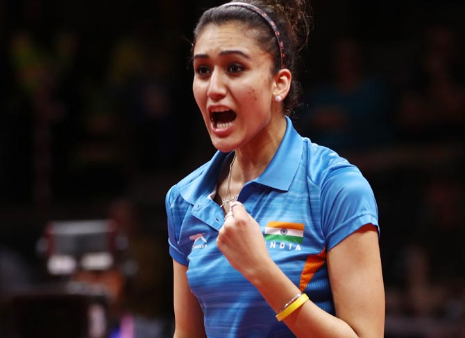 Image result for Sensational Manika Batra wins historic singles gold in TT