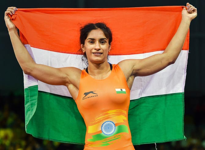 Vinesh, Sumit claim gold; Sakshi settles for bronze on last day of CWG wrestling