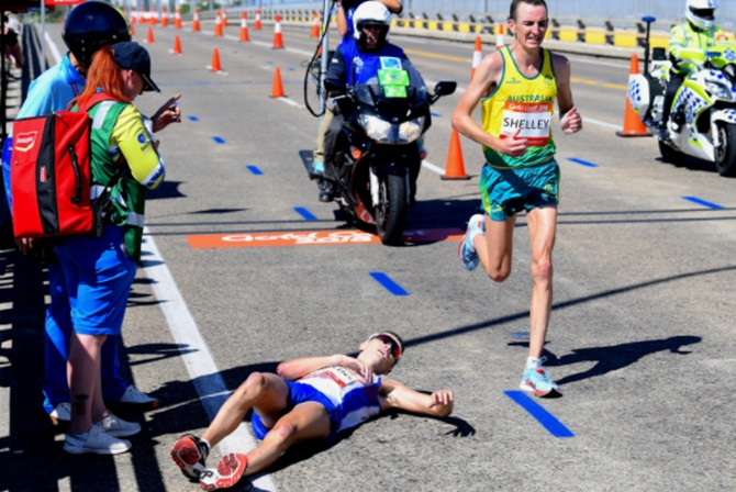 Hawkins collapse overshadows CWG men's marathon
