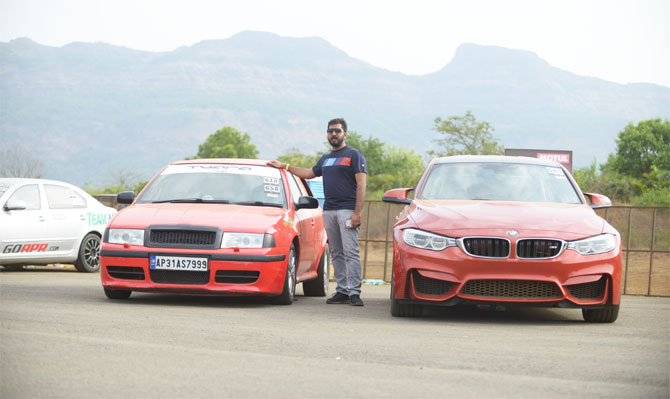 Vizag's Stephen Pachigalla poses with his winning car