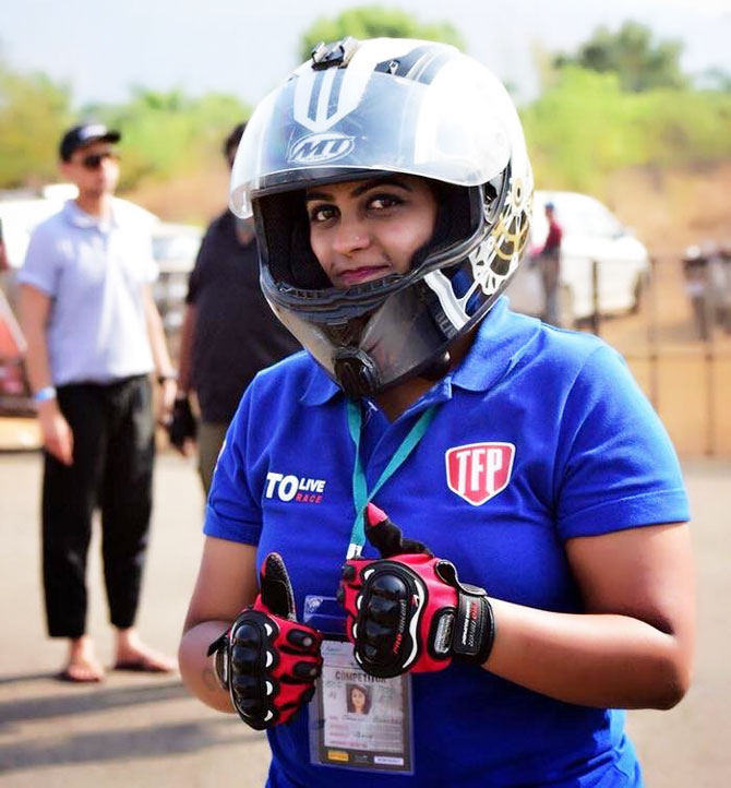 Mumbai's Jhanvi Bhavsar, winner in the K7 Class poses after her win