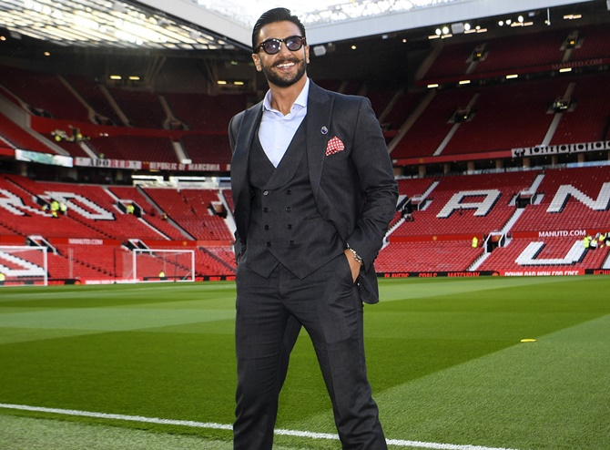 SPOTTED! Ranveer Singh at Old Trafford