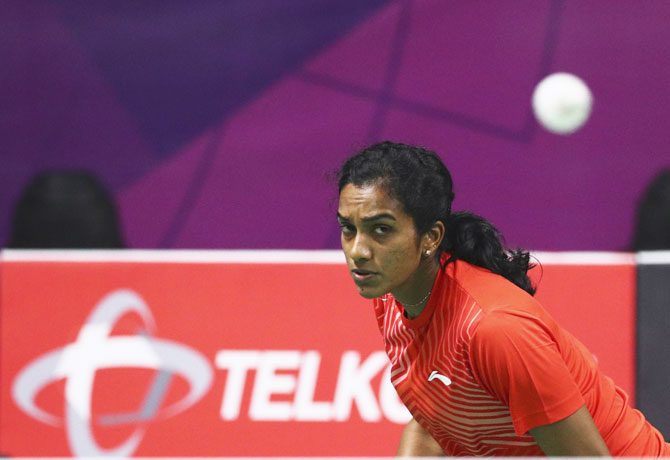 Rediff Sports - Cricket, Indian hockey, Tennis, Football, Chess, Golf - Asian Games: 'Silver' Sindhu seeks golden outcome eventually