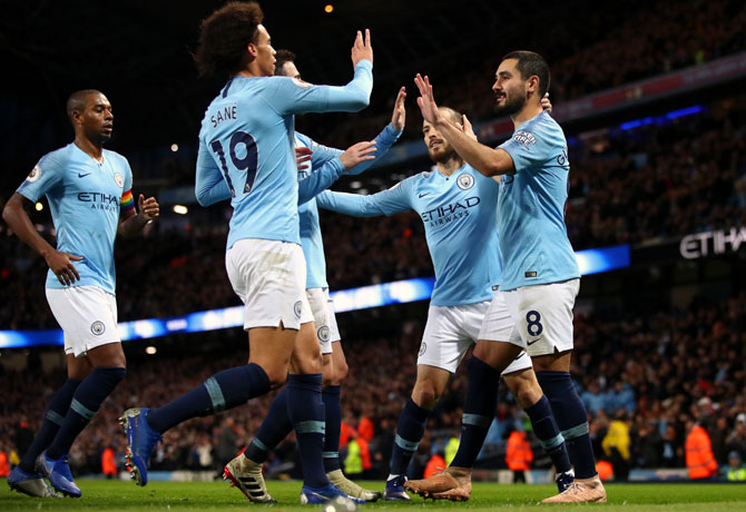EPL PIX: Man City extend lead at top; United draw at Southampton