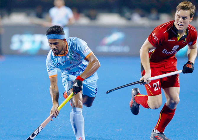 Rediff Sports - Cricket, Indian hockey, Tennis, Football, Chess, Golf - Hockey World Cup: Spirited India play out draw against Belgium