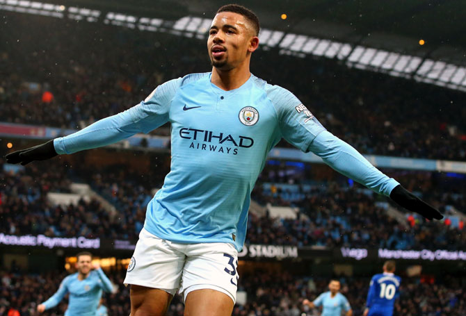 EPL PIX: City back on top as Jesus double sinks Everton