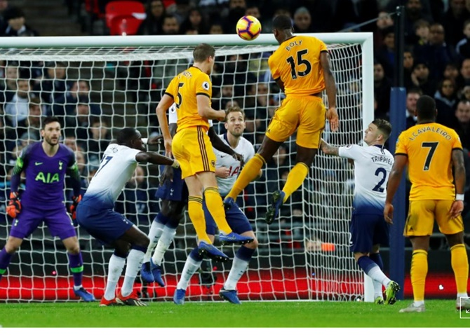 EPL PIX: Wolves raid Wembley to hurt Spurs' title hopes