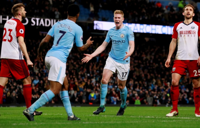 EPL PIX: Man City win to go 15 points clear as United suffer