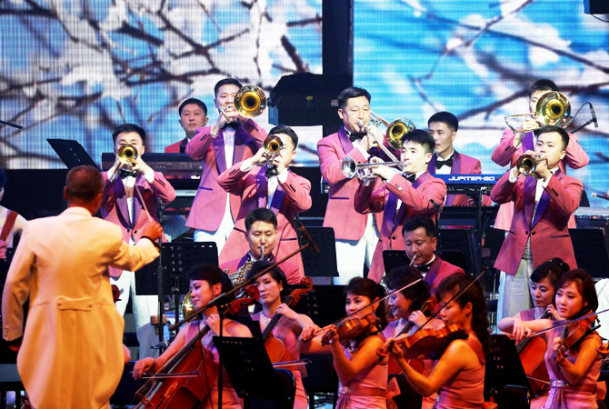 The performance is the first by North Koreans in the South since 2000, when another orchestra crossed the border for a joint concert to mark Korea's Liberation Day on August 15
