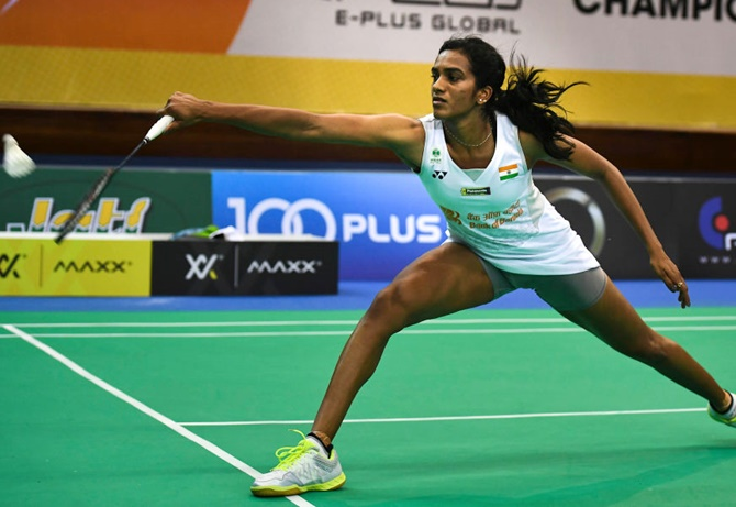 Rediff Sports - Cricket, Indian hockey, Tennis, Football, Chess, Golf - All England: Sindhu, Srikanth survive scare but Saina crashes out