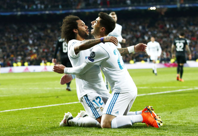 Rediff Sports - Cricket, Indian hockey, Tennis, Football, Chess, Golf - Real's low-cost Asensio overshadows PSG's costly buys Neymar, Mbappe