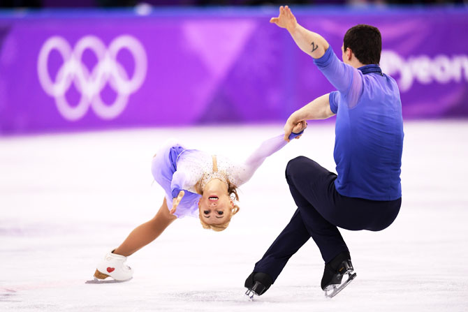 Germany's Aljona Savchenko and Bruno Massot compete during the Pair Skating Free Skating at Gangneung Ice Arena in Gangneung at the Winter Olympic Games on Thursday