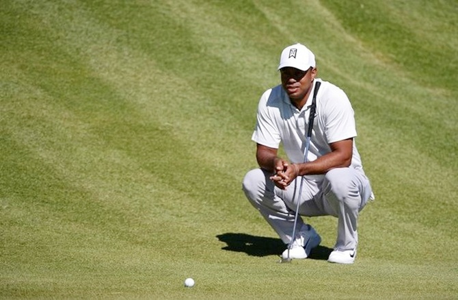 Rediff Sports - Cricket, Indian hockey, Tennis, Football, Chess, Golf - Sports Shorts: Woods misses cut at Riviera after eight bogeys
