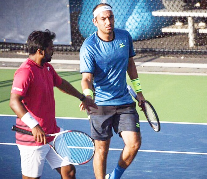 Leander Paes and Purav Raja