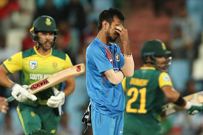 Yuzvendra Chahal was hammered for 64 runs off his 4 overs in the 2nd T20I on Wednesday