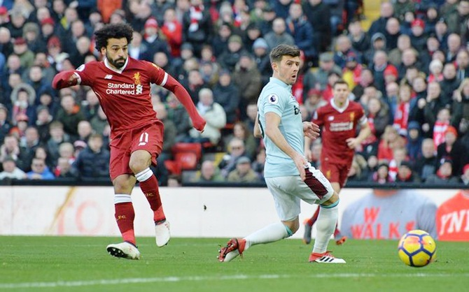 EPL PHOTOS: Salah scores again as Liverpool thrash West Ham