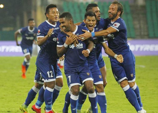 Rediff Sports - Cricket, Indian hockey, Tennis, Football, Chess, Golf - Sports Shorts: Nelson secures win for Chennaiyin FC
