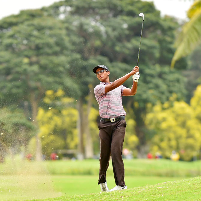 Indian golfer Viraj Madappa