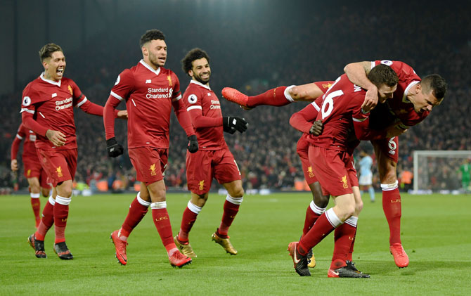 EPL PHOTOS: Liverpool end Man City's unbeaten run in thriller