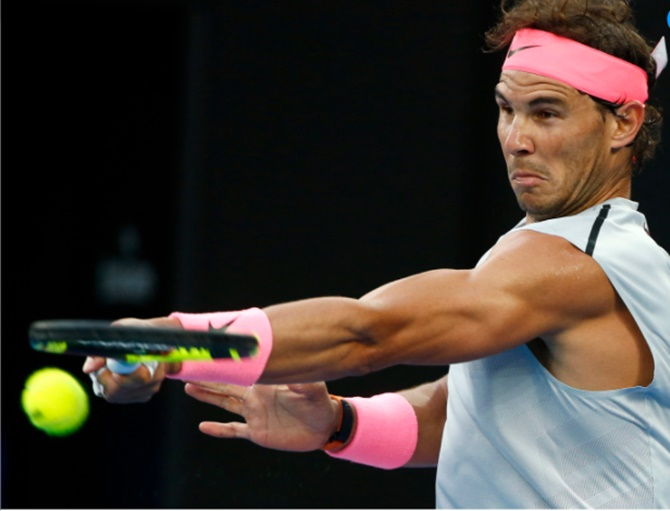 Rediff Sports - Cricket, Indian hockey, Tennis, Football, Chess, Golf - Aus Open PIX: Nadal, Kyrgios ease into 2nd round, Venus ousted