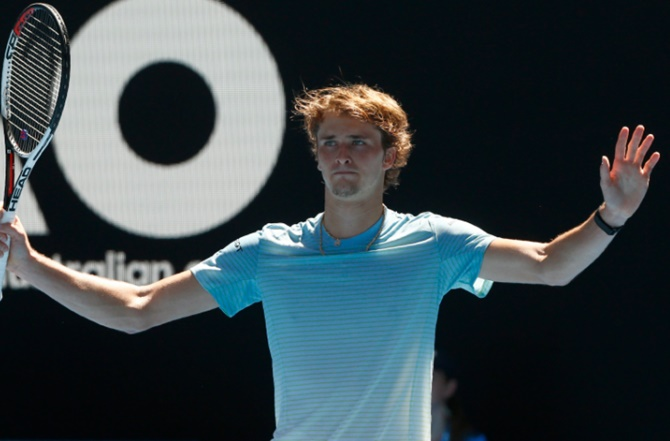 Rediff Sports - Cricket, Indian hockey, Tennis, Football, Chess, Golf - Aus Open Diary: My brother still makes fun of me, says Zverev
