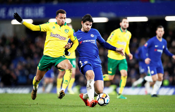 Rediff Sports - Cricket, Indian hockey, Tennis, Football, Chess, Golf - FA Cup: Chelsea through on penalties, Bournemouth lose to Wigan