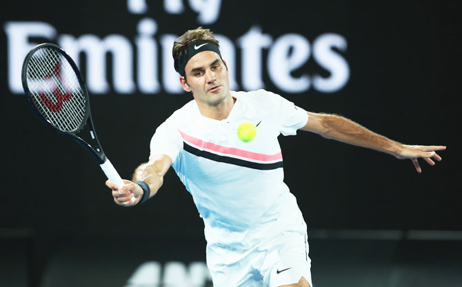 Rediff Sports - Cricket, Indian hockey, Tennis, Football, Chess, Golf - Melbourne is frying others but Federer's unapologetic about his sched
