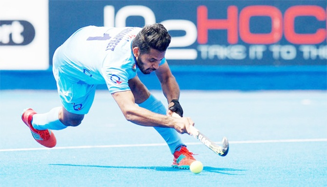 Rediff Sports - Cricket, Indian hockey, Tennis, Football, Chess, Golf - Four-Nation hockey: India too good for New Zealand