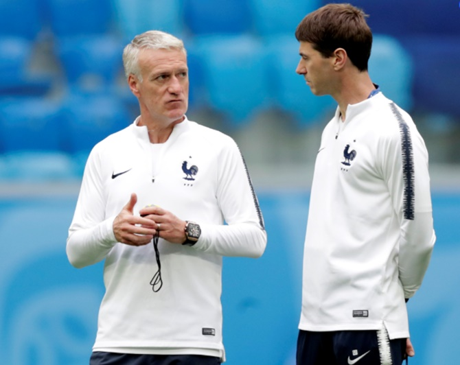 Rediff Sports - Cricket, Indian hockey, Tennis, Football, Chess, Golf - France coach Didier Deschamps on brink of history