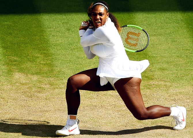 Rediff Sports - Cricket, Indian hockey, Tennis, Football, Chess, Golf - Serena seeks eighth Wimbledon crown to cap another comeback