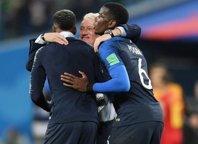 Rediff Sports - Cricket, Indian hockey, Tennis, Football, Chess, Golf - Deschamps hails French character after World Cup semis win