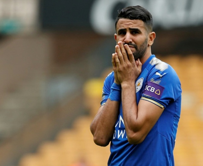 Rediff Sports - Cricket, Indian hockey, Tennis, Football, Chess, Golf - Football Briefs: Mahrez joins Manchester City from Leicester