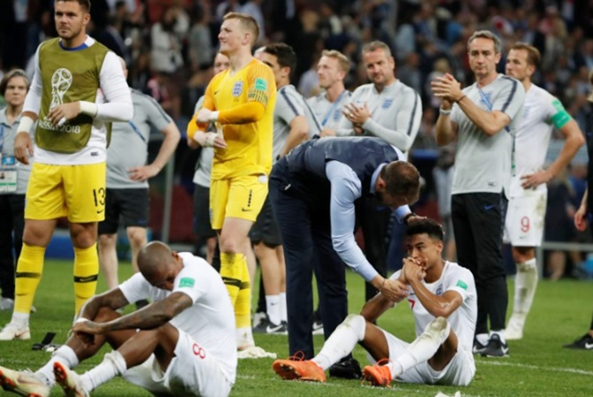 Rediff Sports - Cricket, Indian hockey, Tennis, Football, Chess, Golf - Too early to take positives for proud England boss Southgate