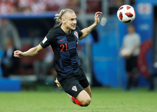 Rediff Sports - Cricket, Indian hockey, Tennis, Football, Chess, Golf - Croatia defender Vida apologises for Ukraine comments