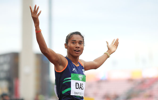 hima das will inspire younger athletes rediff com sports