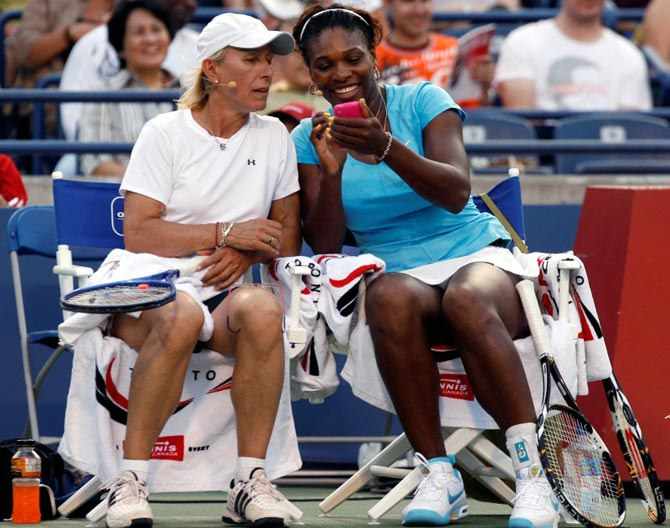 Rediff Sports - Cricket, Indian hockey, Tennis, Football, Chess, Golf - Playing Serena would have been my dream match, says Navratilova