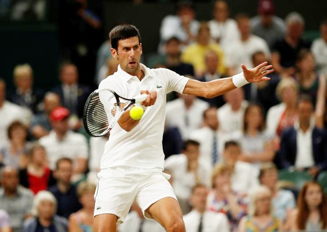 Rediff Sports - Cricket, Indian hockey, Tennis, Football, Chess, Golf - Djokovic ahead of Nadal after Anderson's epic semi-final win