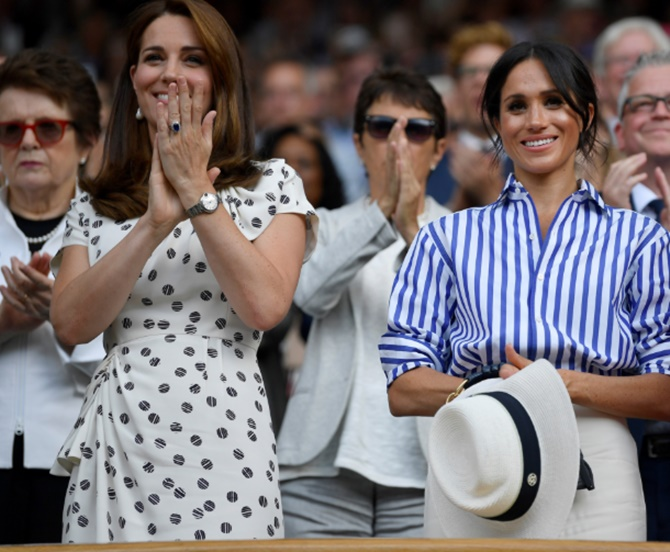 Rediff Sports - Cricket, Indian hockey, Tennis, Football, Chess, Golf - PIX: Kate and Meghan take center stage at Wimbledon