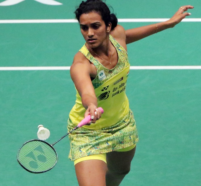 Rediff Sports - Cricket, Indian hockey, Tennis, Football, Chess, Golf - Thailand Open: Sindhu enters final; Okuhara awaits