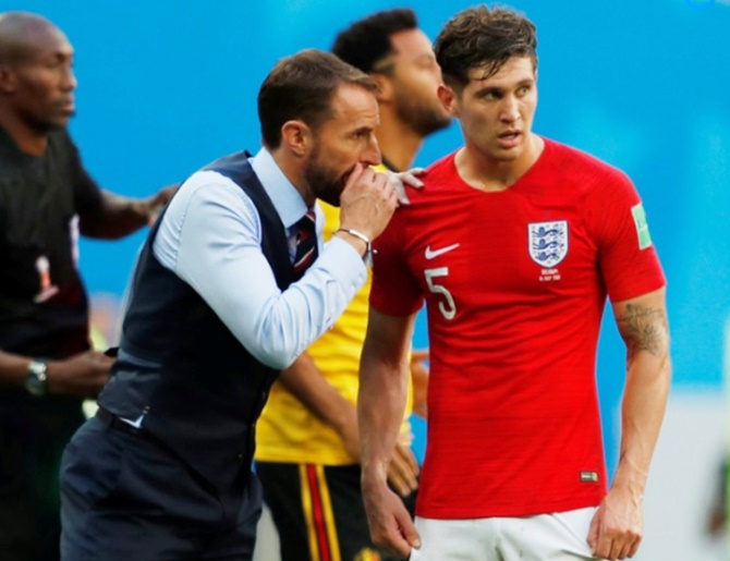 Rediff Sports - Cricket, Indian hockey, Tennis, Football, Chess, Golf - Southgate singles out Stones for praise, defends Kane