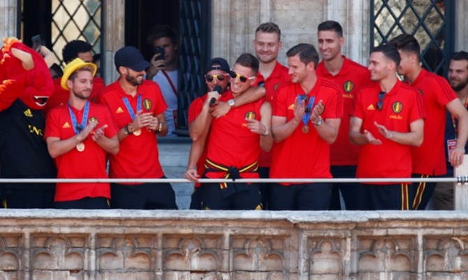 Rediff Sports - Cricket, Indian hockey, Tennis, Football, Chess, Golf - PHOTOS: Heroes welcome for  Belgium on World Cup return