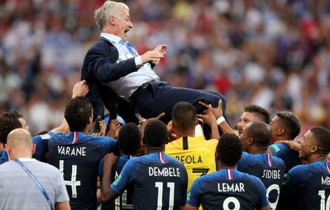 Rediff Sports - Cricket, Indian hockey, Tennis, Football, Chess, Golf - France coach and players react to World Cup victory