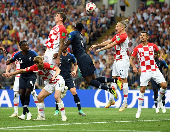 Rediff Sports - Cricket, Indian hockey, Tennis, Football, Chess, Golf - Croatia's Mandzukic scores first own goal in World Cup final