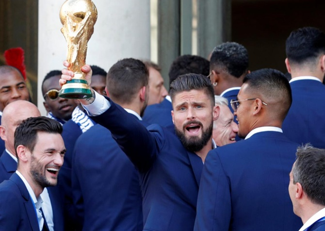 Rediff Sports - Cricket, Indian hockey, Tennis, Football, Chess, Golf - France's Giroud savours World Cup glory despite criticism