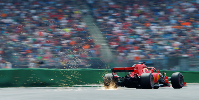 Rediff Sports - Cricket, Indian hockey, Tennis, Football, Chess, Golf - F1: Vettel on pole for home German Grand Prix