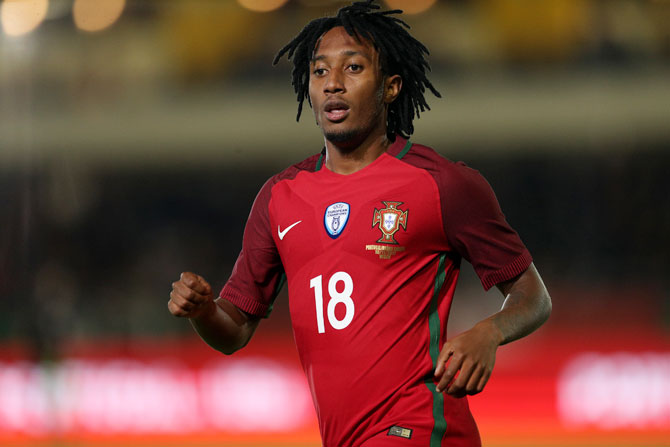 Portugal forward Gelson Martins has signed with Atletico Madrid as a free agent for six years