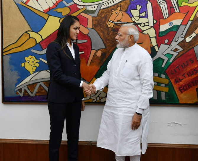 India's rising table tennis star Manika Batra meets Prime Minister Narendra Modi on Monday